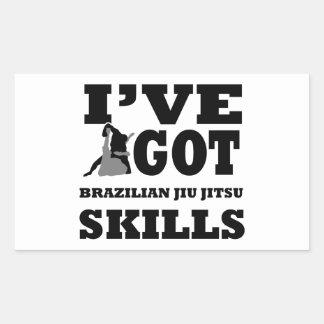 Design das artes marciais de Jiu Jitsu do Adesivo Retangular