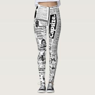Design das caneleiras do jornal leggings