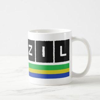 Design das cores de Brasil! Caneca