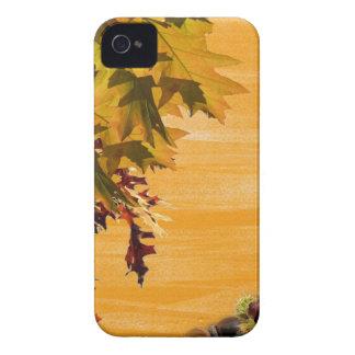 Design das folhas de Brown para seu iphone4 Capinha iPhone 4