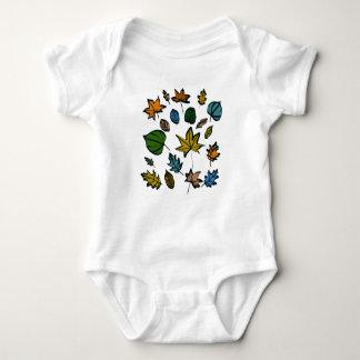 Design das folhas de outono no Bodysuit do bebê Body Para Bebê
