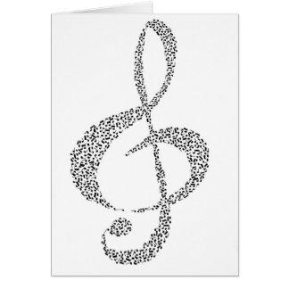 Design das notas musicais cartão comemorativo
