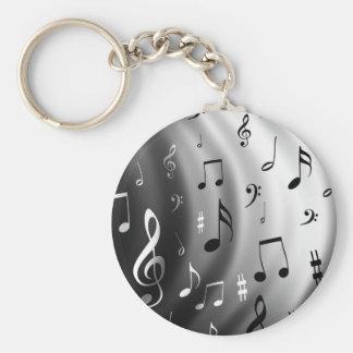 Design das notas musicais chaveiro