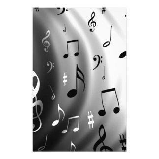 Design das notas musicais papelaria