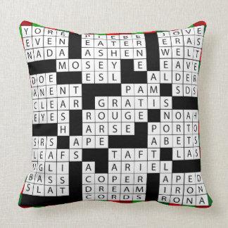 Design das palavras cruzadas no travesseiro almofada