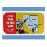 Design das viagens vintage de Las Vegas Navada Cartoes Postais