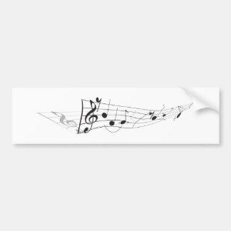 Design de A que torce a contagem musical Adesivos