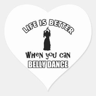 Design de Bellydancing Adesivo Em Forma De Coração