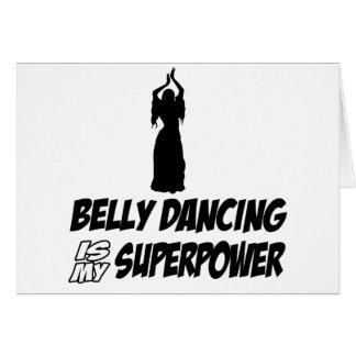 Design de Bellydancing Cartão Comemorativo