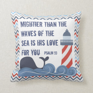 Design de Bendel do travesseiro do menino náutico Almofada