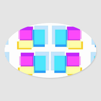Design de blocos feminino de Babysoft na base Adesivo Oval