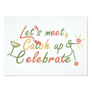 Design de cartão da reunião convite 12.7 x 17.78cm
