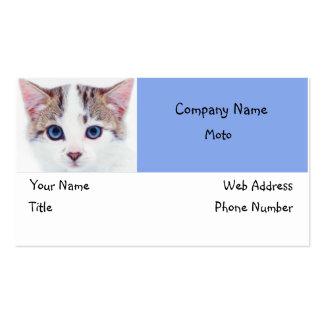 Design de cartão de visita 1 dos olhos azuis do ga