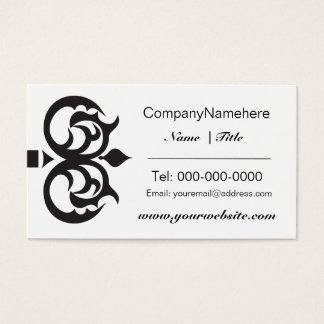 Design de cartão de visita chave preto elegante