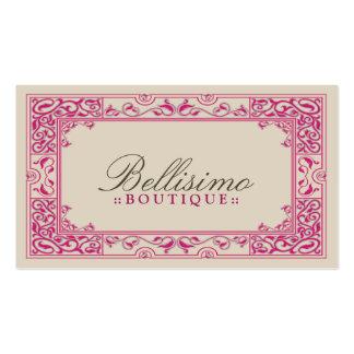 Design de cartão de visita clássico da vinheta