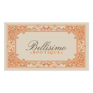 Design de cartão de visita clássico da vinheta (al