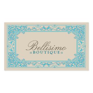 Design de cartão de visita clássico da vinheta (aq