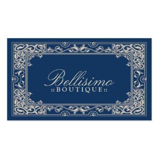 Design de cartão de visita clássico da vinheta (az