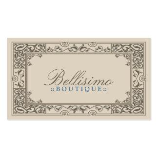 Design de cartão de visita clássico da vinheta (ch