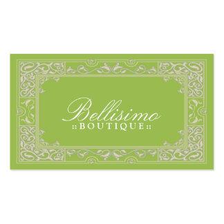 Design de cartão de visita clássico da vinheta (ma