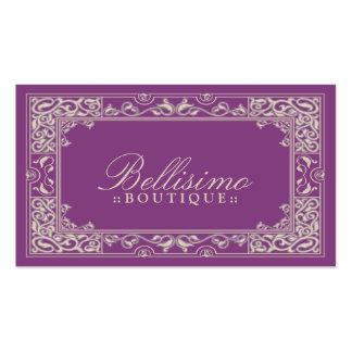 Design de cartão de visita clássico da vinheta (ro