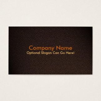 Design de cartão de visita de couro do falso