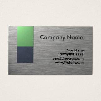 Design de cartão de visita do metal do falso