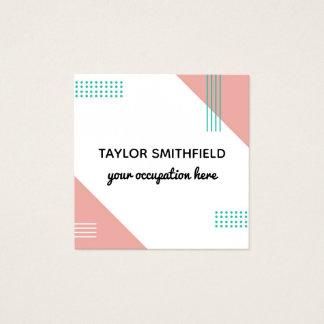 design de cartão de visita geométrico do