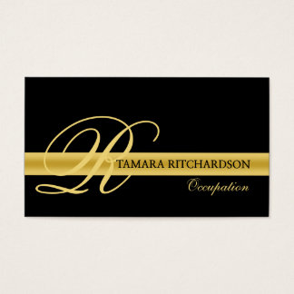 Design de cartão de visita luxuoso elegante