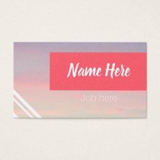 Design de cartão de visita Pastel claro