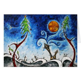Design de cartão original da arte da Noite de