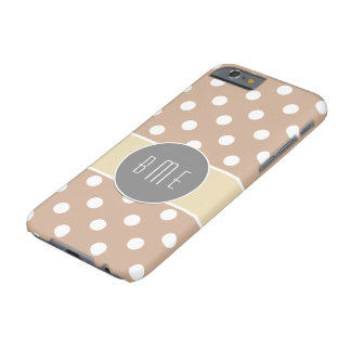Design de Chevron do monograma Capa Barely There Para iPhone 6