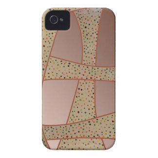 Design de cobre original das ondas das bolinhas capa para iPhone 4 Case-Mate