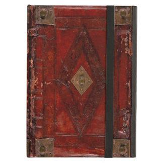 Design de couro vermelho gravado medieval da capa