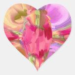 Design de cristal da pétala de REDROSE Adesivos De Corações