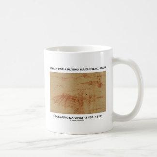 Design de da Vinci para uma máquina de vôo Caneca De Café