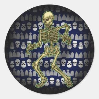 Design de esqueleto assustador da etiqueta