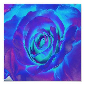 Design de florescência do bulbo das flores azuis impressão de foto