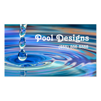 Design de fluxo da piscina das gotas claras da cartão de visita