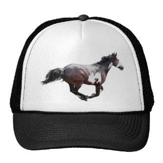 Design de galope do cavalo do Pinto da pintura Boné