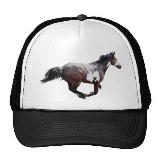 Design de galope do cavalo do Pinto da pintura Bonés