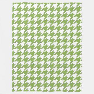 Design de Houndstooth nas hortaliças e no branco Cobertor De Lã