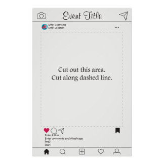 Design de Instagram do poster do quadro do suporte