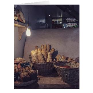 Design de interiores da padaria do vintage e da cartão comemorativo grande