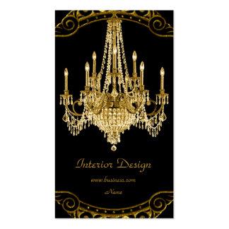 Design de interiores elegante do candelabro do pre cartão de visita