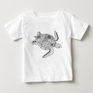 Design de Lineart da tartaruga de mar Camiseta Para Bebê