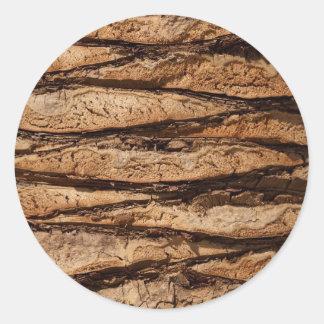Design de madeira da textura adesivos redondos