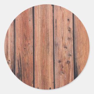 Design de madeira da textura adesivo em formato redondo