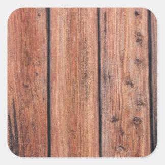 Design de madeira da textura adesivo quadrado