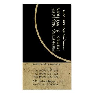 Design de mármore contemporâneo antigo afligido cartão de visita